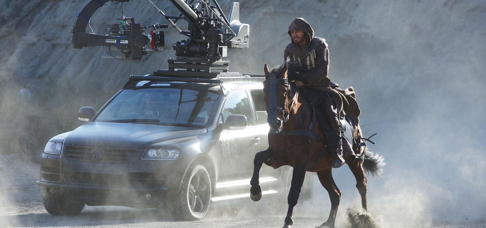 Dreharbeiten: Michael Fassbender auf der Flucht vor der Kamera